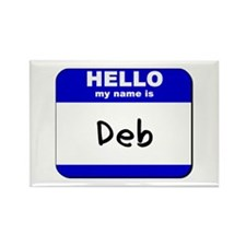 hello my name is deb Rectangle Magnet