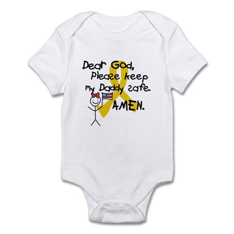 Keep Daddy Safe with Little Girl Infant Bodysuit