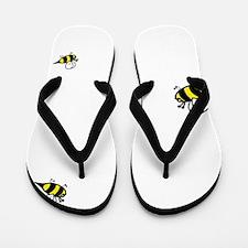 Keep Calm and Keep Bees Flip Flops