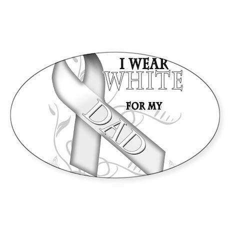 I Wear White for my Dad Sticker