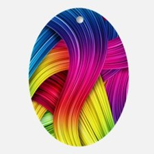 Colorful Abstract Oval Ornament