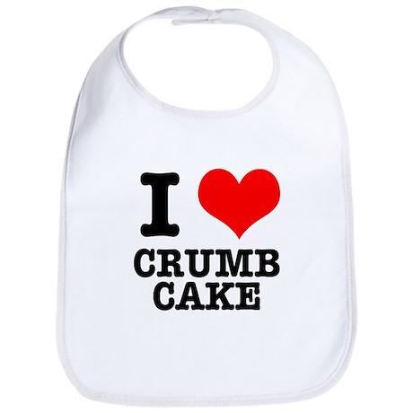 I Heart (Love) Crumb Cake Bib