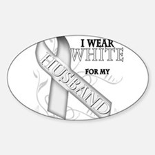 I Wear White for my Husband Decal