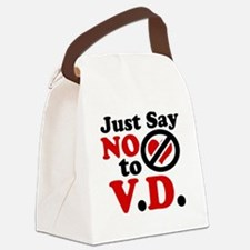 Just say no to Valentines Day Canvas Lunch Bag