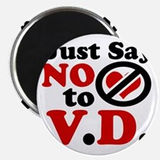 Just say no to Valentines Day Magnet