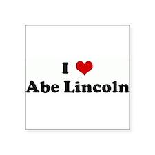I Love Abe Lincoln Rectangle Sticker