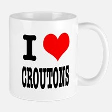 I Heart (Love) Croutons Mug