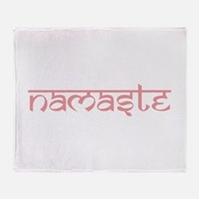 Namaste, Yoga Throw Blanket