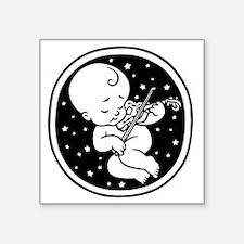 "violin-womb-813-T Square Sticker 3"" x 3"""
