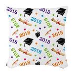Class Of 2018 Gift Woven Throw Pillow