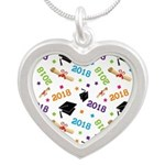 Class Of 2018 Gift Silver Heart Necklace