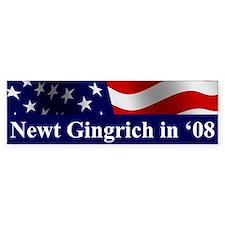Gingrich 08 Bumper Car Sticker