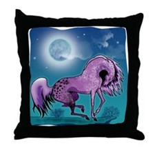 Purple Appaloosa #1 Throw Pillow