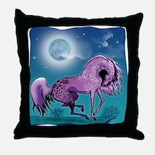 Purple Appaloosa #1 Throw Pillow