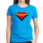 Geocaching Heart Women's Dark T-Shirt