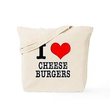I Heart (Love) Cheeseburgers Tote Bag