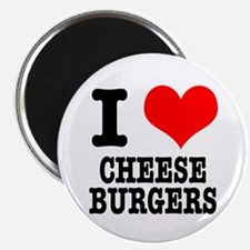 "I Heart (Love) Cheeseburgers 2.25"" Magnet (10 pack"