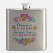 Proud Grandma Flowers Flask