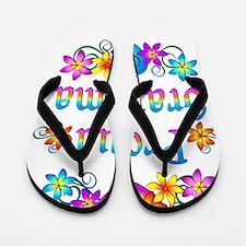 Proud Grandma Flowers Flip Flops
