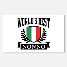 World's Best Nonno Sticker (Rectangle)
