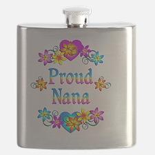 Proud Nana Flowers Flask