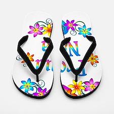 Proud Nana Flowers Flip Flops