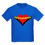 Geocaching Heart Kids Dark T-Shirt