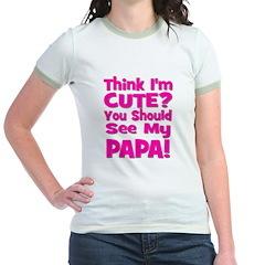Think I'm Cute? Papa - Pink T