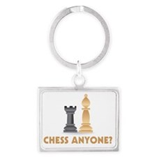 Chess Anyone Chess Pieces Landscape Keychain