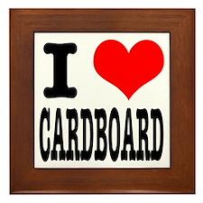 I Heart (Love) Cardboard Framed Tile