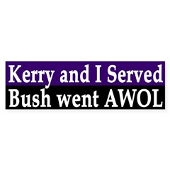 Kerry and I Served, Bush went AWOL