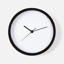 But Umm... White Logo Wall Clock