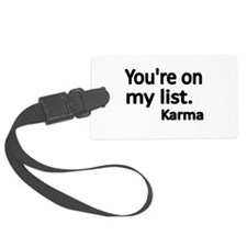 Youre on my list Luggage Tag