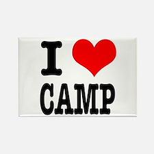I Heart (Love) Camp Rectangle Magnet (10 pack)