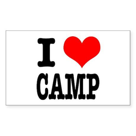 I Heart (Love) Camp Rectangle Sticker