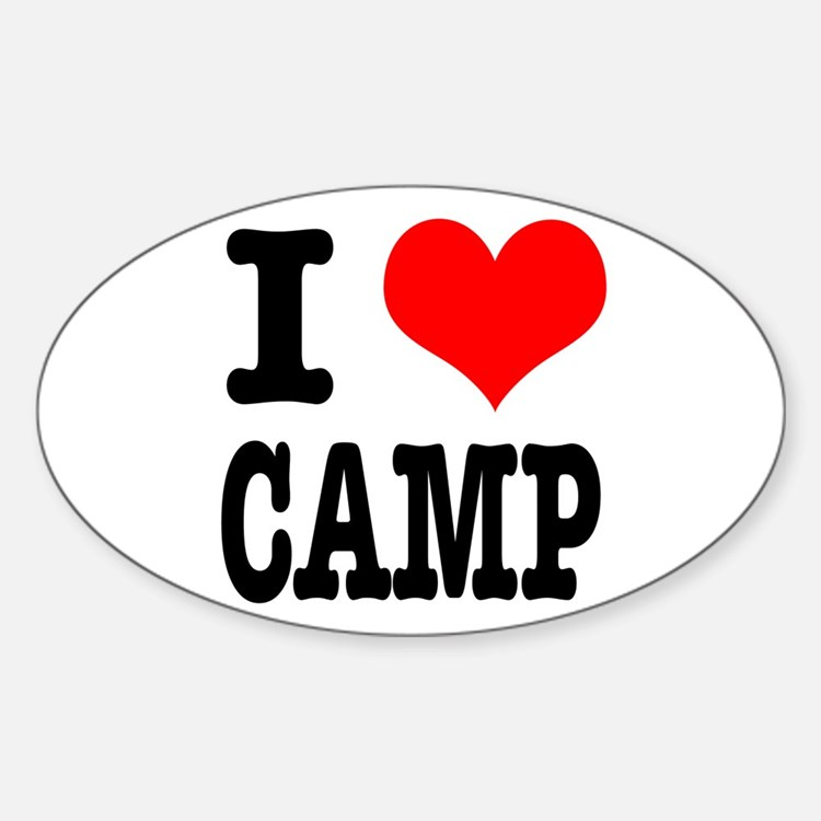 I Heart (Love) Camp Oval Decal