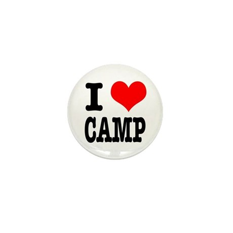 I Heart (Love) Camp Mini Button (100 pack)