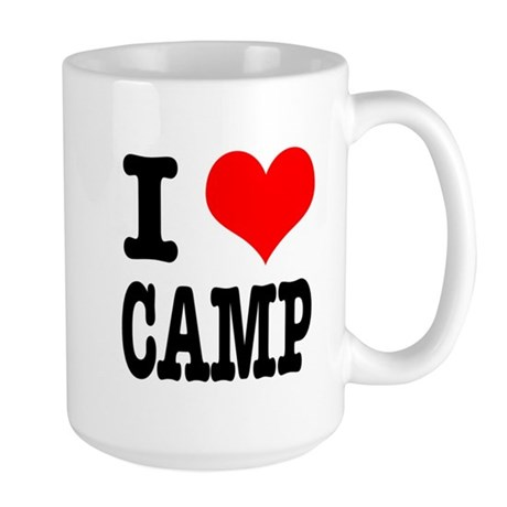 I Heart (Love) Camp Large Mug
