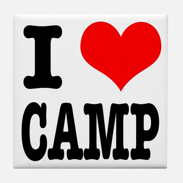 I Heart (Love) Camp Tile Coaster