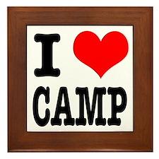 I Heart (Love) Camp Framed Tile