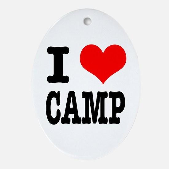 I Heart (Love) Camp Oval Ornament