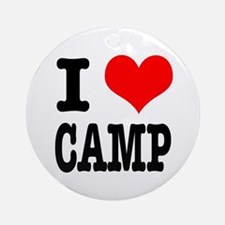 I Heart (Love) Camp Ornament (Round)