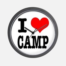 I Heart (Love) Camp Wall Clock