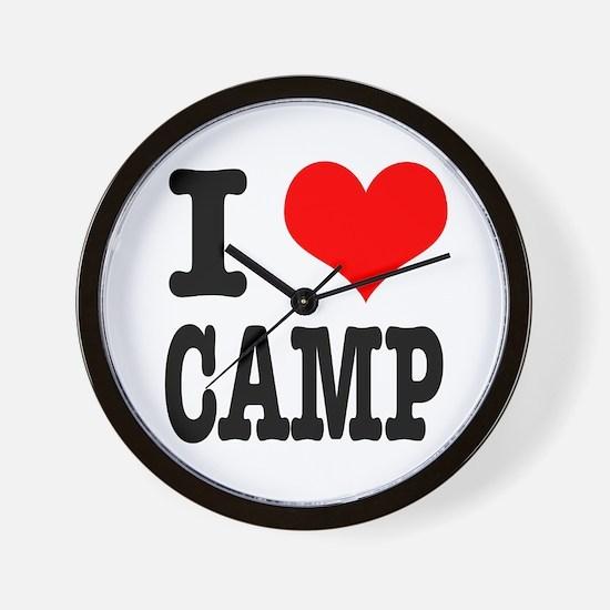 I Heart (Love) Camp Wall Clock