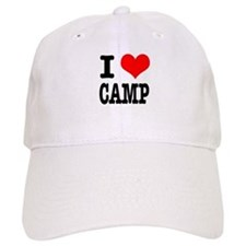 I Heart (Love) Camp Baseball Cap