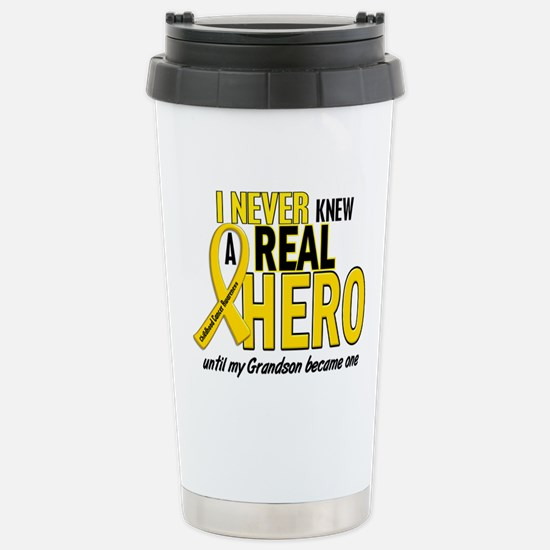 Never Knew A Hero 2 GOLD (Grandson) Mugs