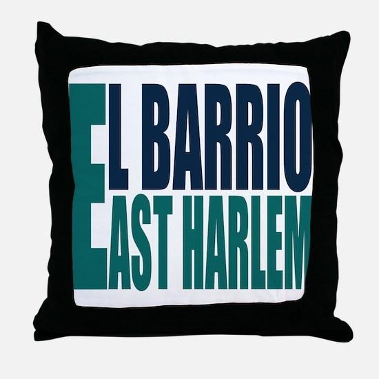 """Click Here"" East Harlem Logo Throw Pillow"
