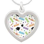 2020 Graduation Class Silver Heart Necklace