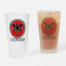 Leopard Army Drinking Glass
