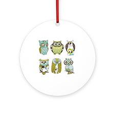 Owls Round Ornament